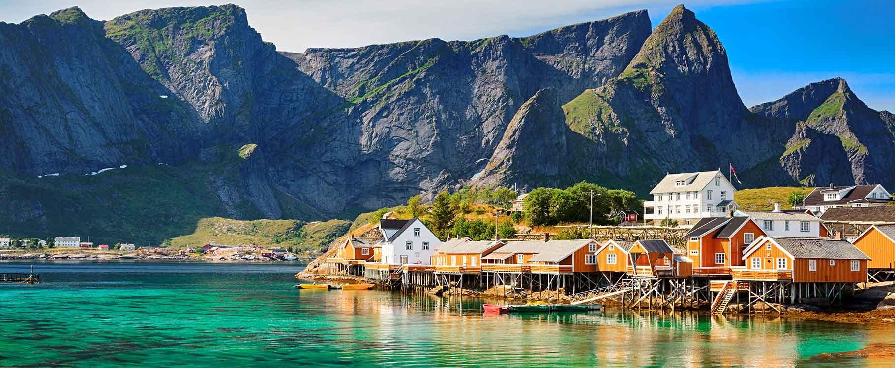 Rorbuer, Lofoten, Norvège