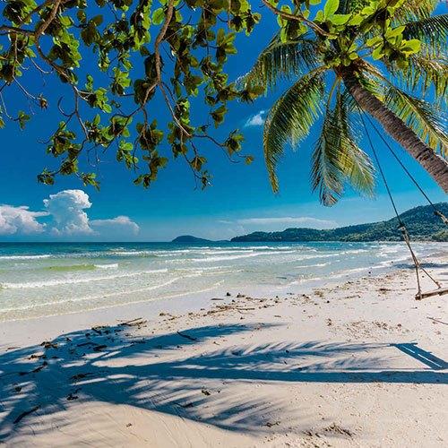Plage et palmier, Sao Beach, Phu Quoc, Vietnam