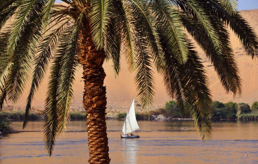 Felouque à Assouan, Égypte