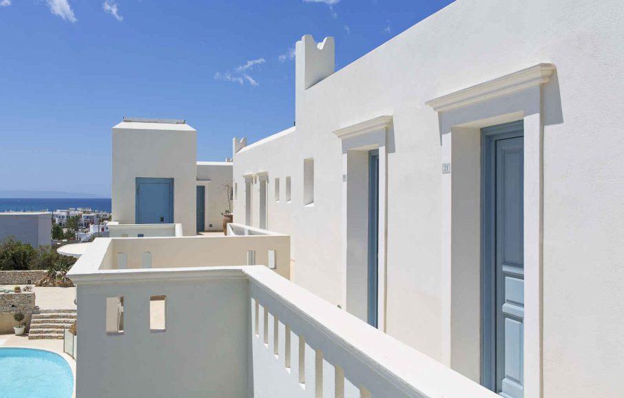 Vue extérieure, Hotel Lagos Mare, Grèce