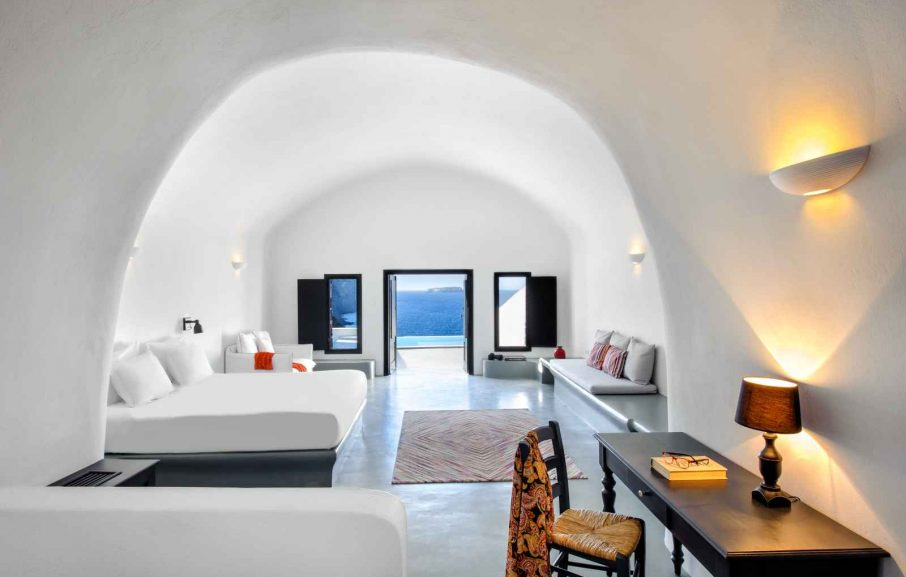 Suite grotte, Ambassador Aegean, Santorin, Grèce.