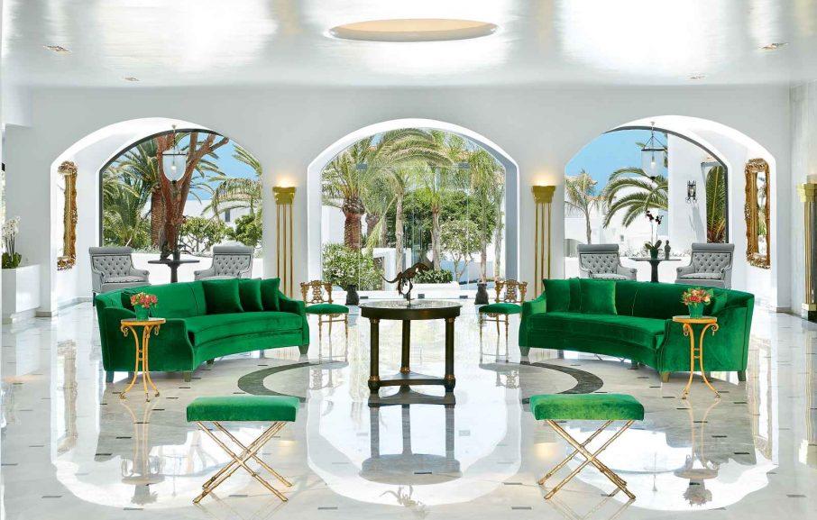 Lounge, Caramel Grecotel Boutique Resort, Réthymnon, Crète, Grèce.