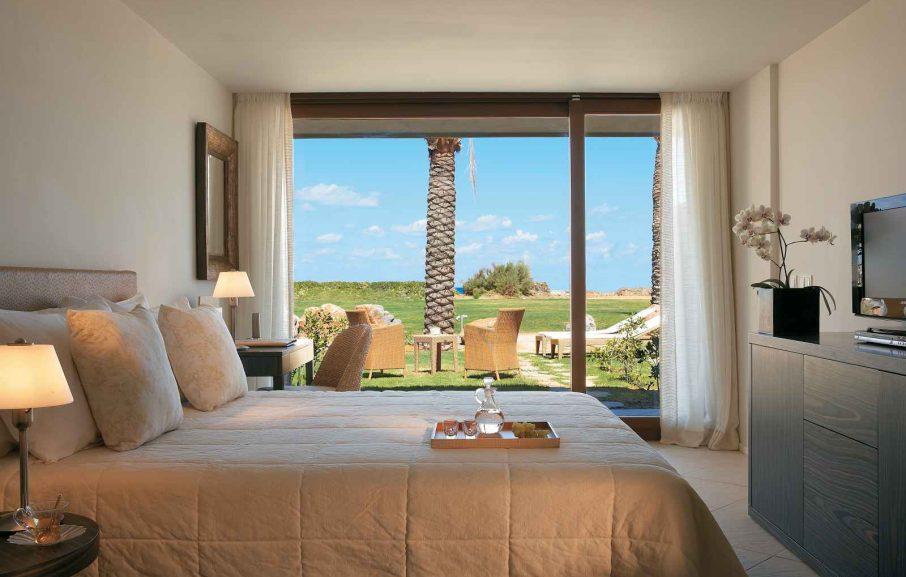 Chambre principale, Bungalow Premium, Amirandes Grecotel, Crète, Grèce.