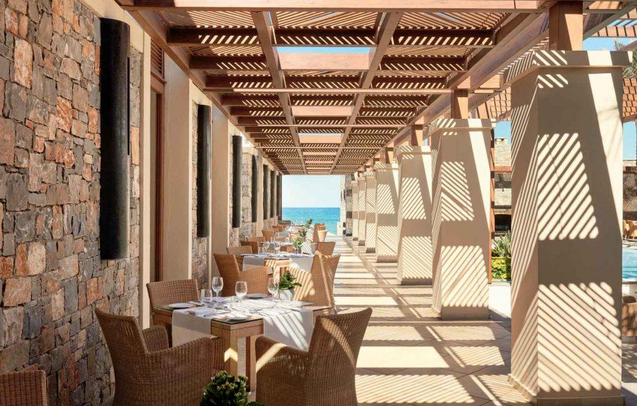 Restaurant, Amirandes Grecotel, Crète, Grèce.