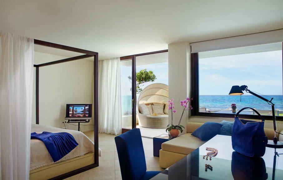 Suite Junior, Bungalow Deluxe, Amirandes Grecotel, Crète, Grèce.