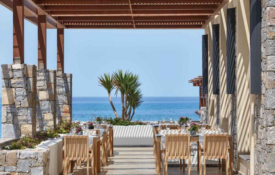 Restaurant Petrino, Amirandes Grecotel, Crète, Grèce.