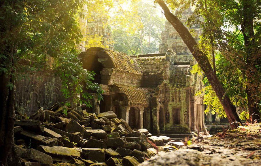 Temple Ta Phrom, Angkor Wat, Siem Reap, Cambodge