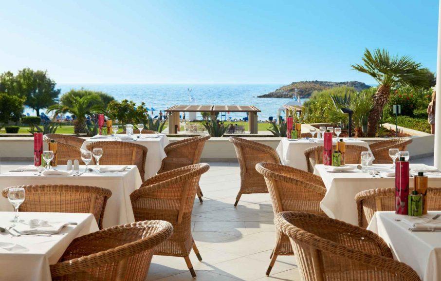 Restaurant, Meli Palace, Crète, Grèce