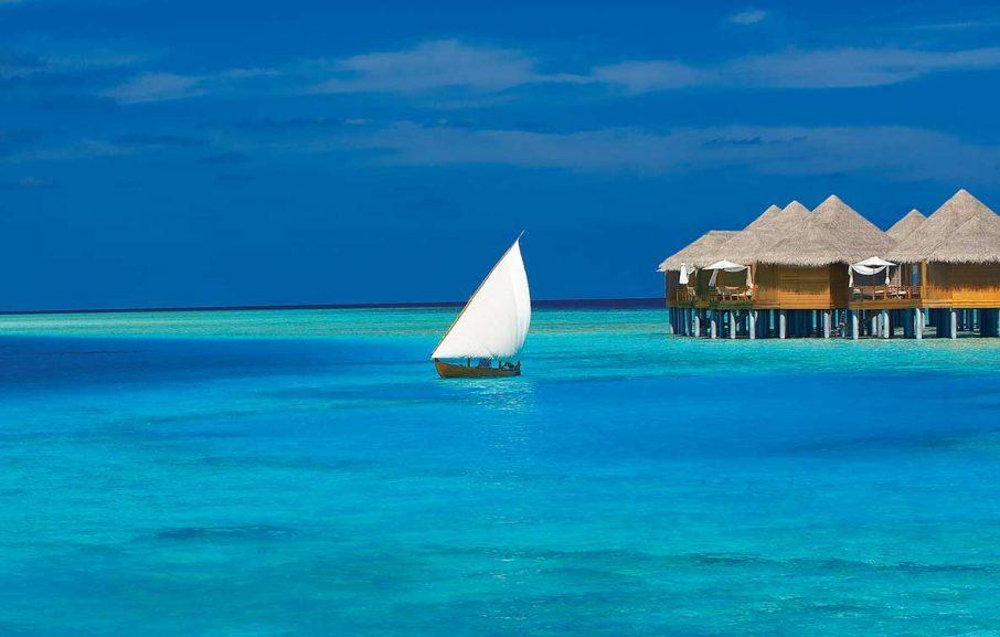 Hôtel sur pilotis aux Maldives