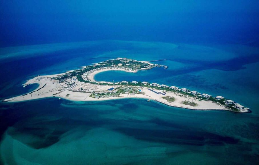 Vue aérienne, Zaya Nurai Island, Abou Dhabi, Émirats Arabes Unis