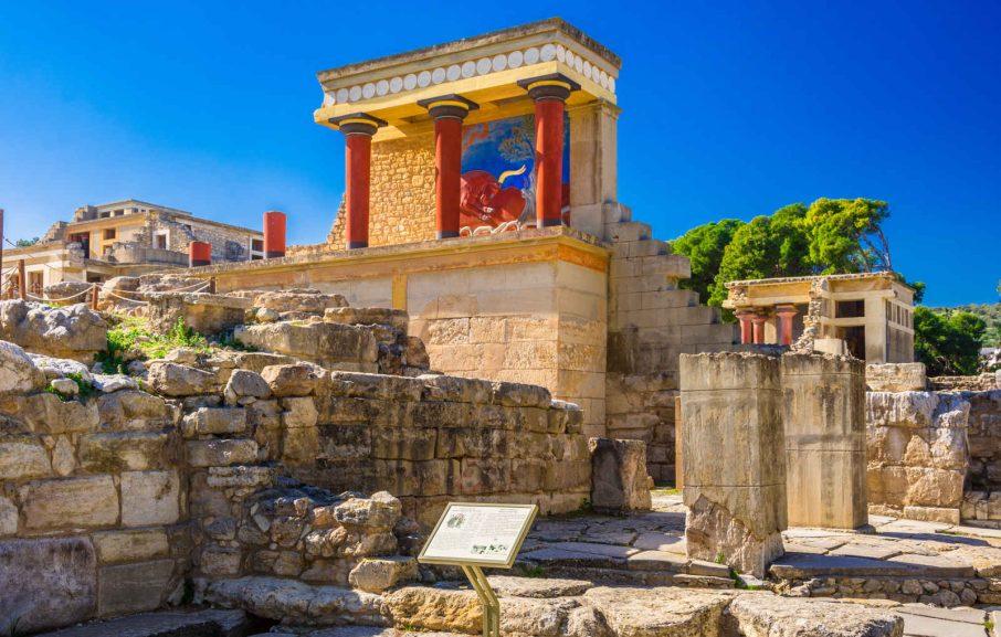 Ruines des palais minoens de Cnossos, Héraklion, Crète, Grèce