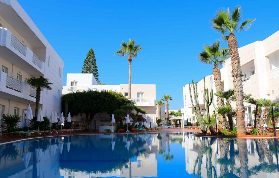 Piscine, Hôtel Magda, Crète, Grèce.