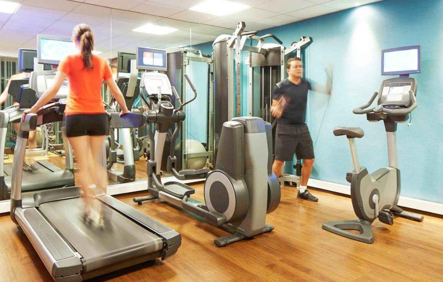 Salle de Fitness, Novotel Athènes, Grèce.