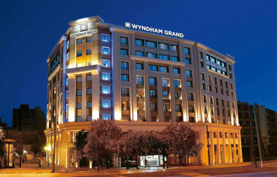 Vue extérieure, hotel Wyndham Grand Athens, Athènes, Grèce.
