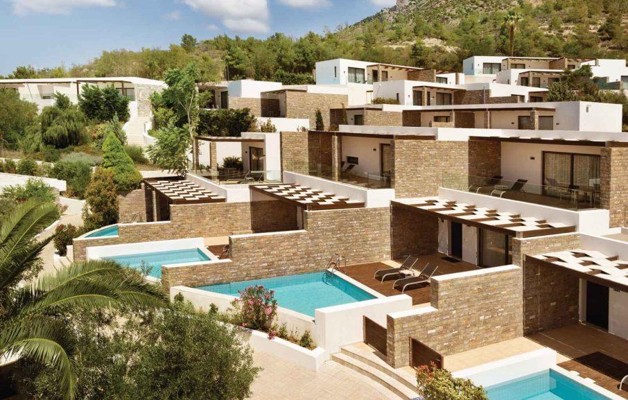 Vue exterieure, hotel Wyndham Loutraki, Loutraki, Grèce.