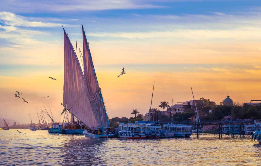 Felouques, Nil, Égypte