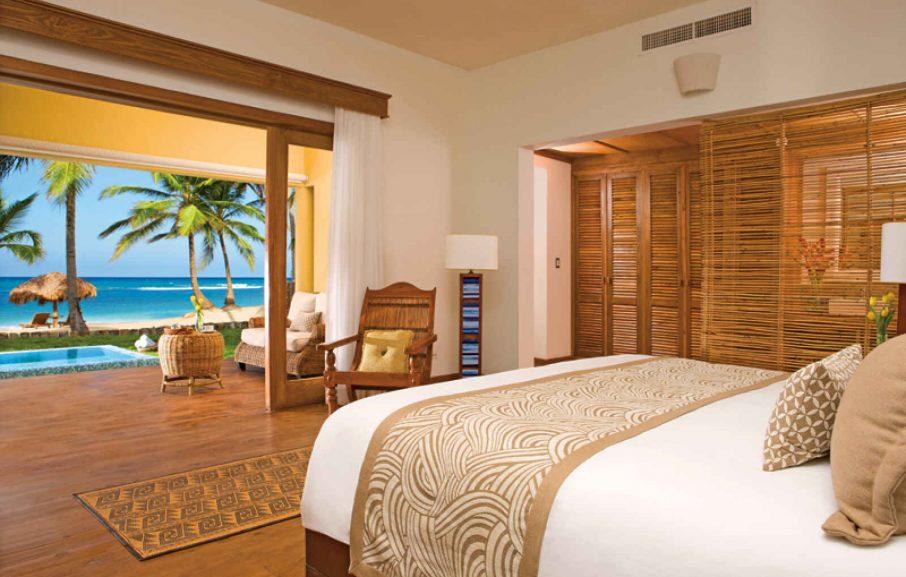 Junior Suite Deluxe Ocean Front, Hôtel Zoëtry Agua Punta Cana, République Dominicaine