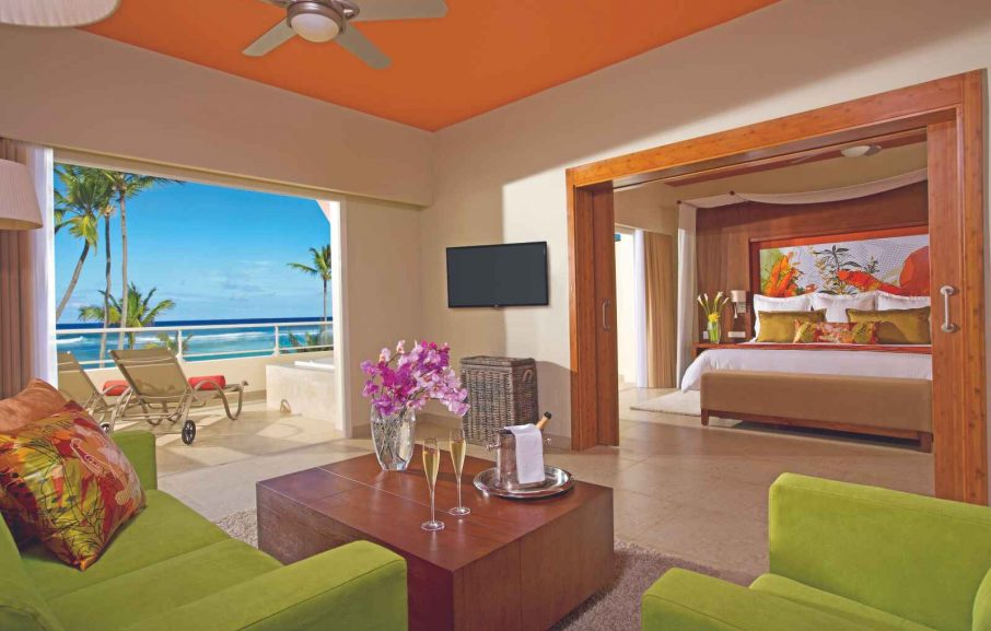 Xhale club Master Suite Ocean Front, Hôtel Breathless Punta Cana Resort & Spa, République Dominicaine