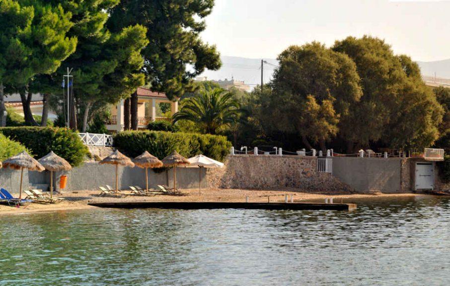 Plage, Hôtel Miramare Eretria, Eretria, Grèce
