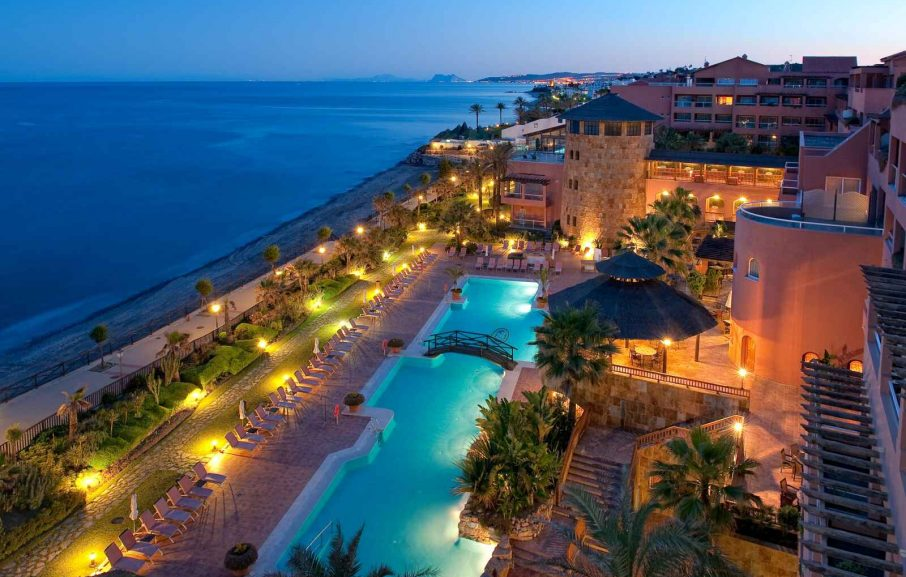 Vue aérienne, Elba Estepona Gran Hotel & Thalasso Spa, Malaga, Espagne