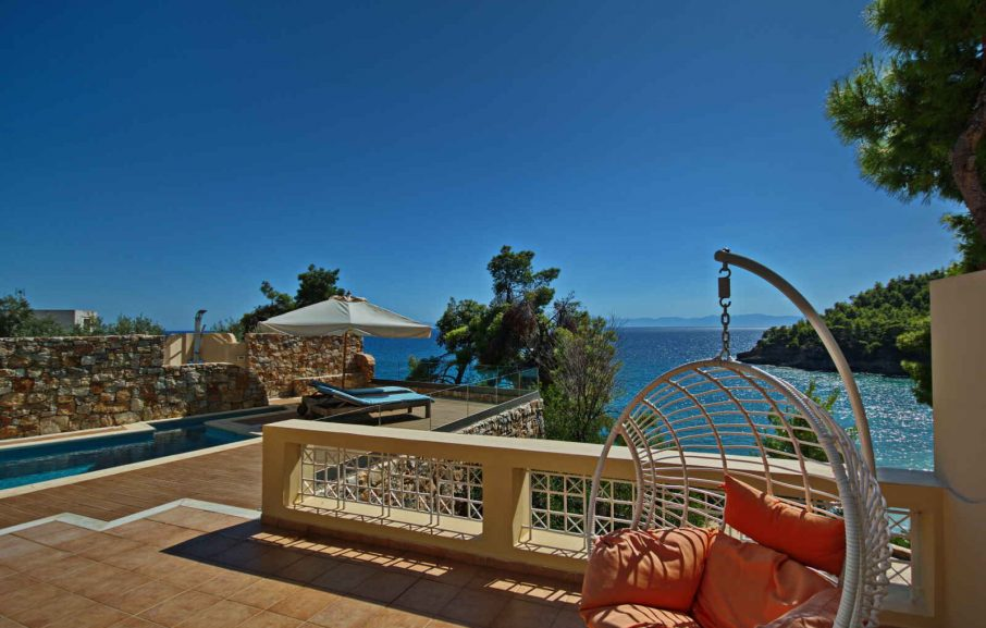 Terrasse, Suite, Alonissos Beach Bungalows & Suites Hotel, Alonissos, Grèce
