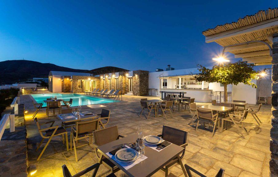 Restaurant, Hôtel Rizes, Serifos, Grèce