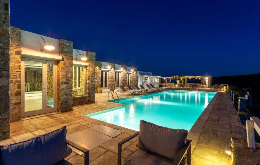 Piscine, Hôtel Rizes, Serifos, Grèce