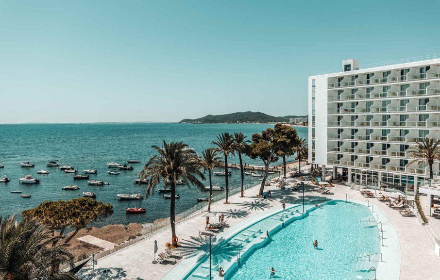 Vue aérienne, Hôtel The Ibiza Twiins, Ibiza, Baléares, Espagne