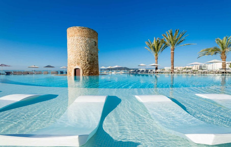 Piscine, Hôtel Torre del Mar, Ibiza, Baléares