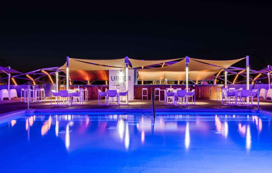 The Upper Level Bar , Hôtel The Ibiza Twiins, Ibiza, Baléares, Espagne