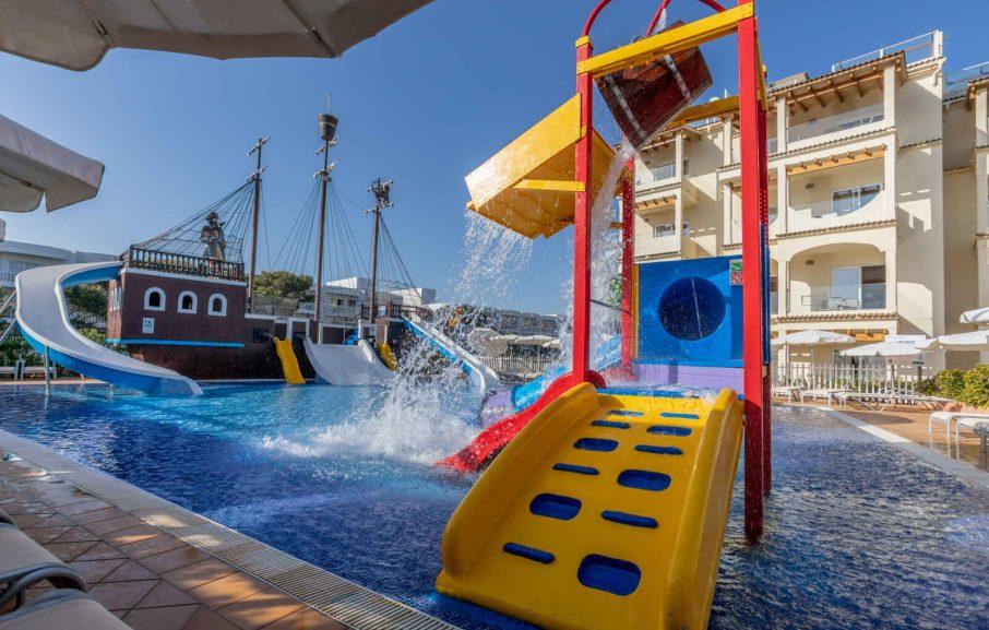 Bassin pour enfants, Hôtel Zafiro Bahia, Majorque, Baléares, Espagne