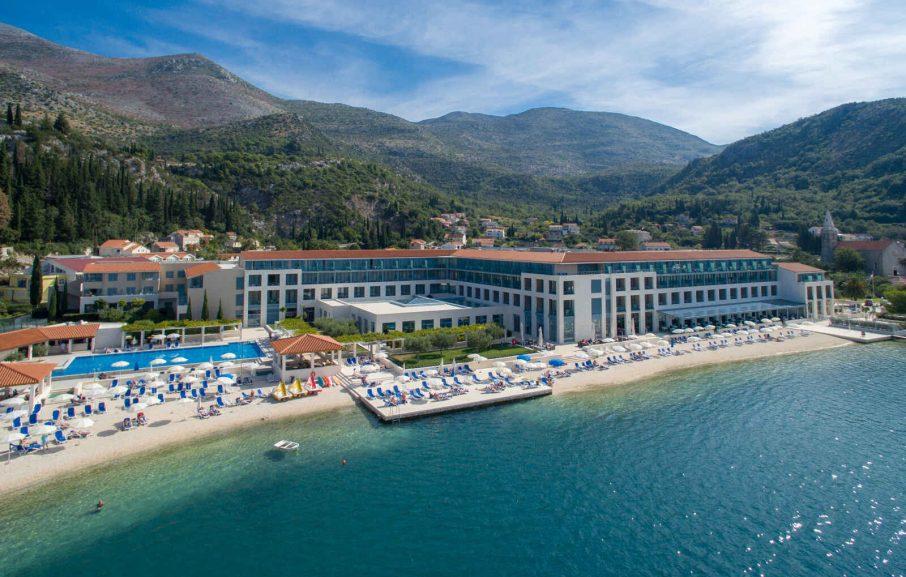 Vue aérienne, Admiral Grand Hotel, Slano, Dubrovnik, Croatie