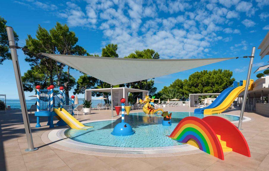Bassin pour enfants, Valamar Meteor Hotel, Makarska, Croatie