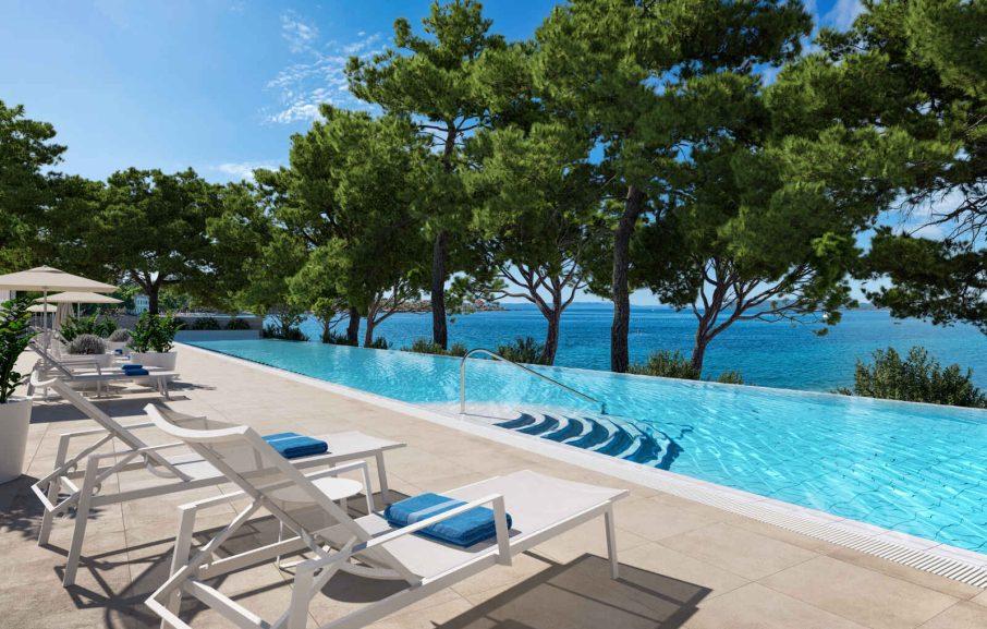 Piscine, Valamar Meteor Hotel, Makarska, Croatie