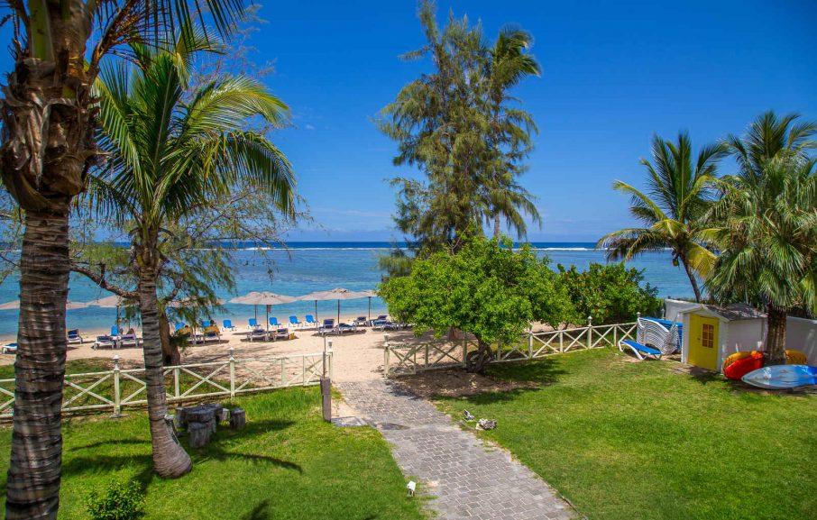Vue de l'hôtel Nautile Beachfront, Saint-Gilles-les-Bains, La Réunion