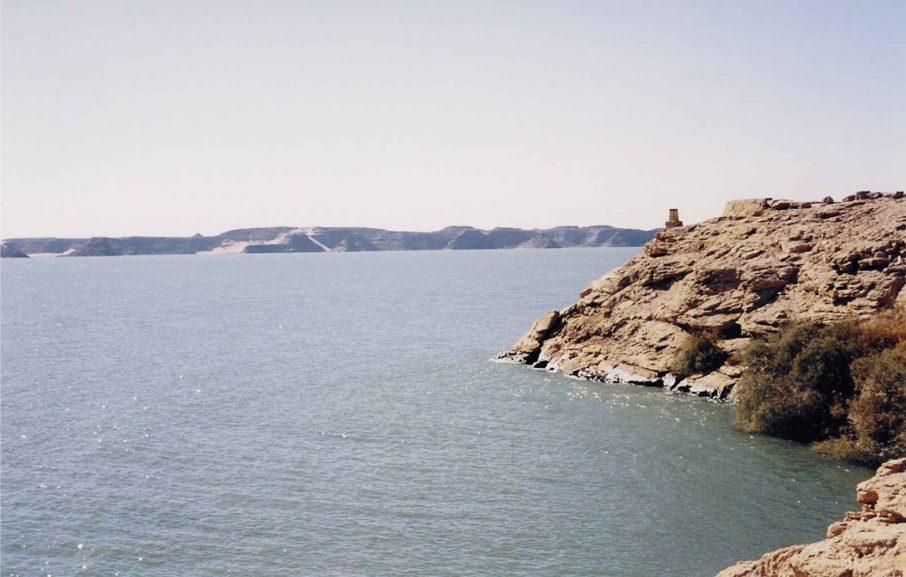 Le lac Nasser, Egypte