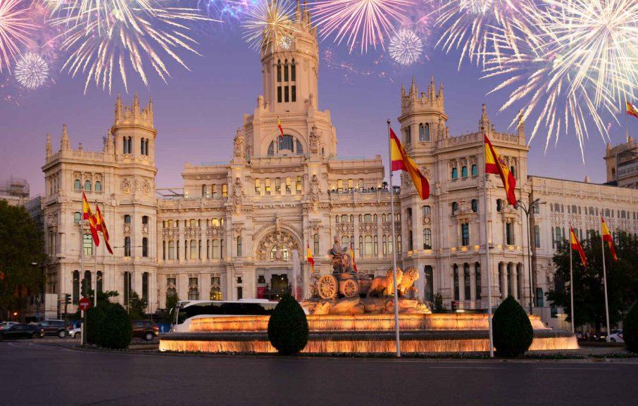 Hotel de ville, Place de Cybèle, Madrid, Espagne