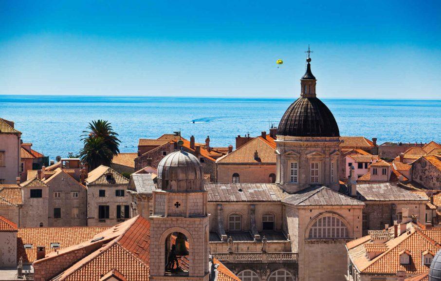 Vue sur les toits de Dubrovnik, Croatie