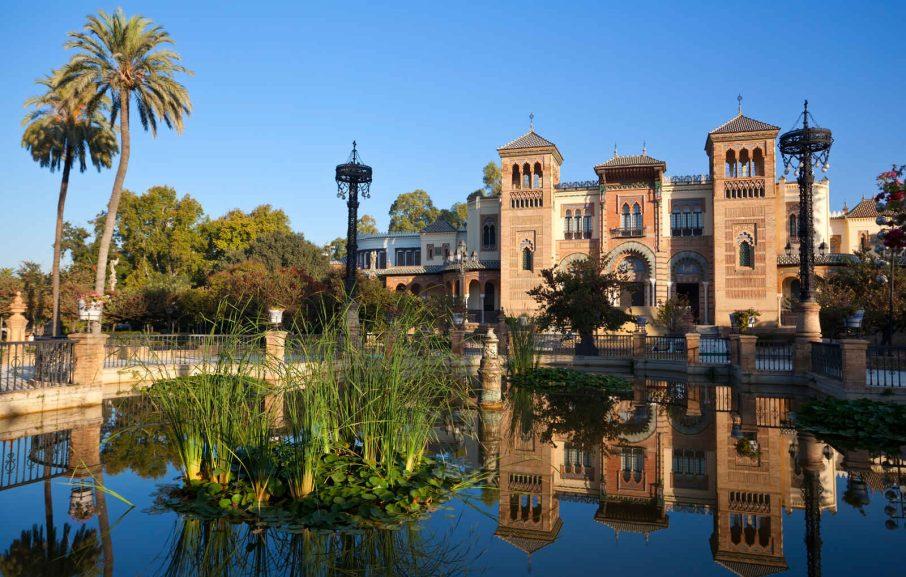 Plaza de America, Parc Maria Luisa, Séville, Andalousie, Espagne