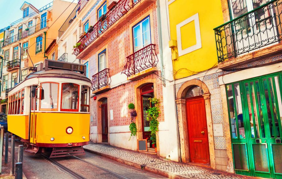 Tramway, Lisbonne, Portugal