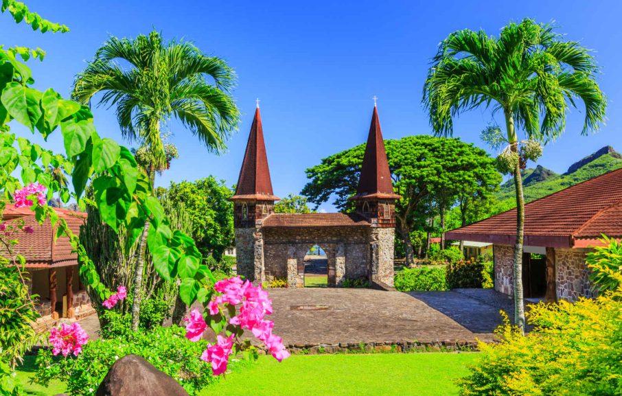 Cathédrale Notre Dame, Nuku Hiva, Iles Marquises, Polynésie Française