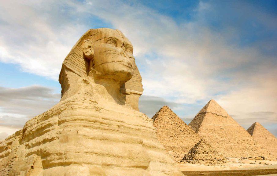 Sphinx et les pyramides de Guizeh,Le Caire, Egypte