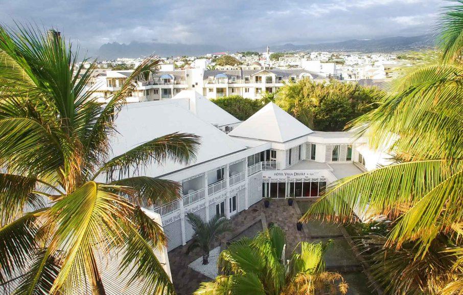 Vue aérienne, Villa Delisle, Saint-Pierre, La Réunion