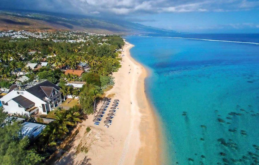 Vue aérienne, hôtel Nautile Beachfront, Saint-Gilles-les-Bains, La Réunion